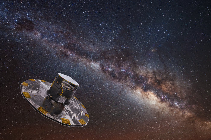 Artist's impression of Gaia mapping the stars of the Milky Way [ESA]