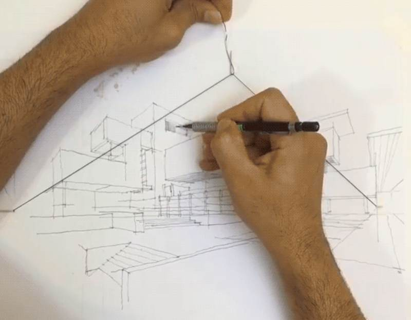 How To Draw 2 Point Perspective With A Rubber Band Boing