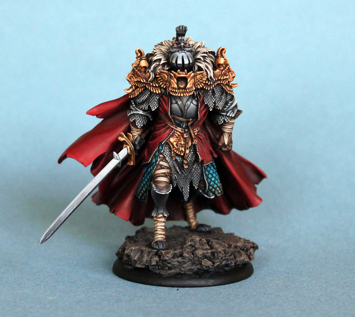 Amazing Black Knight Hand-painted Miniature From 'Kingdom