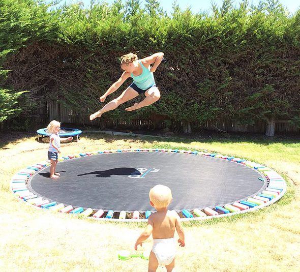 Interesting in-ground trampolines that are level with the grass / Boing  Boing