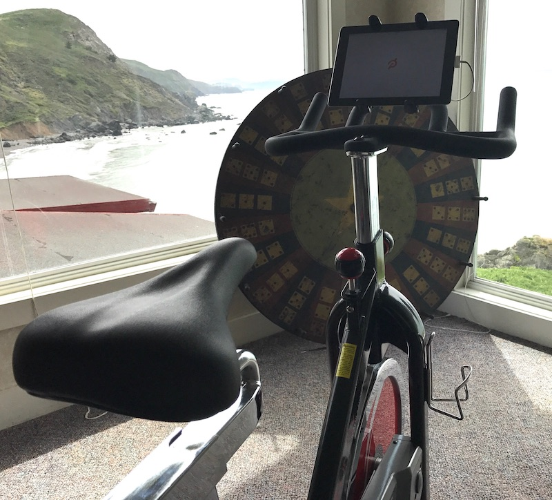 A DIY Peloton at-home stationary cycling solution for introverts