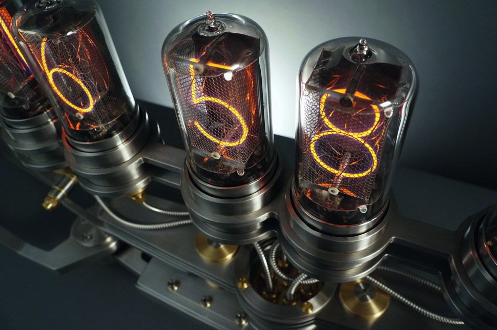 A modern nixie tube clock of great ambition, regrettably