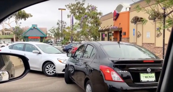 Watch: Hangry drivers have standoff and block everyone else in Taco Bell drive-thru