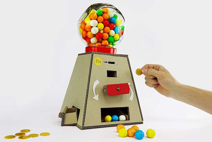 How To Make A Coin Operated Gumball Machine Out Of