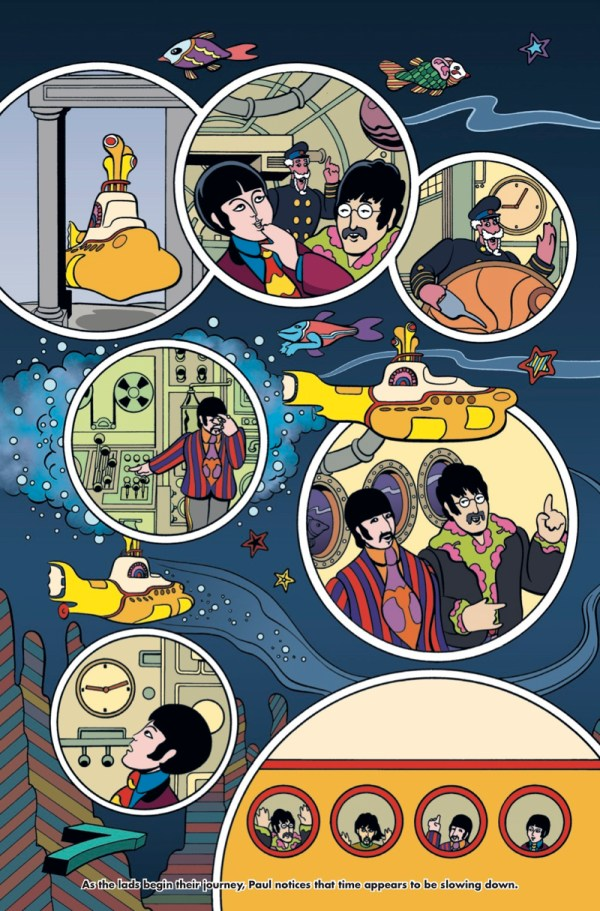 new comic book the beatles yellow submarine in the works boing boing. Black Bedroom Furniture Sets. Home Design Ideas