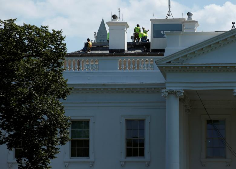 after trump called the white house a dump, it's being renovated