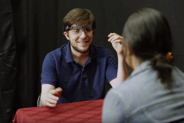 How to make a first date even more awkward? Eye-tracking