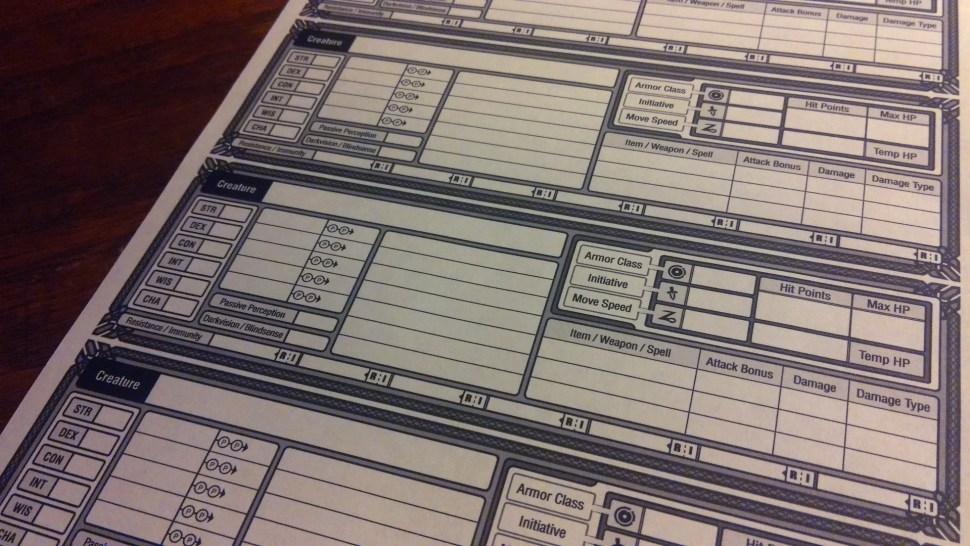 Gorgeous, free, and downloadable DnD Character Sheets / Boing Boing