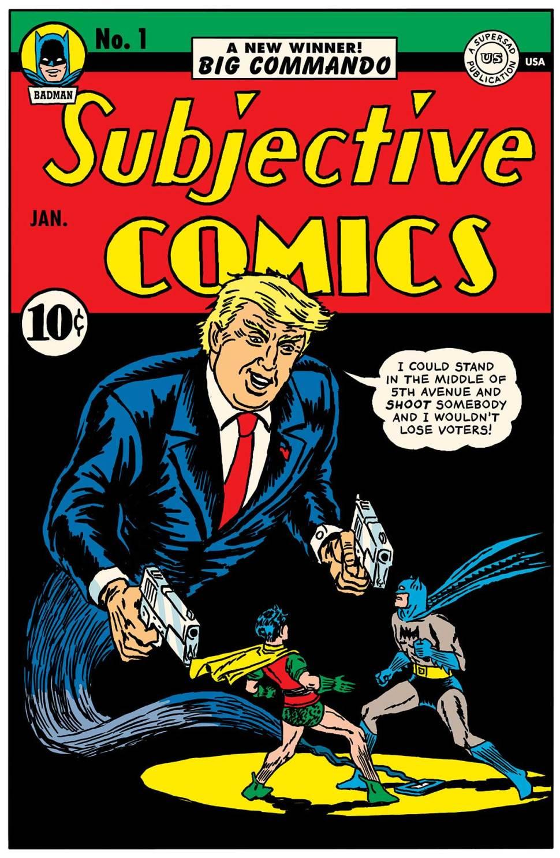 trump comic cartoon covers comics books nasty donald woman utterances dumbest novel detective dc trumps said miss presented trust