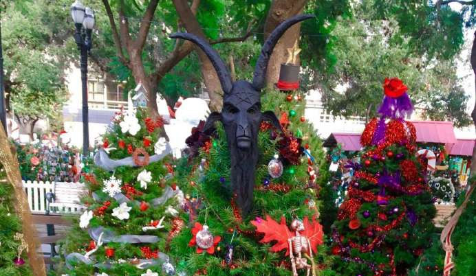 Christmas Is Under Attack Vandals Steal Satanic Temples