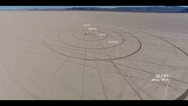 Building a scale model of our solar system in the desert is an eye-opening exercise