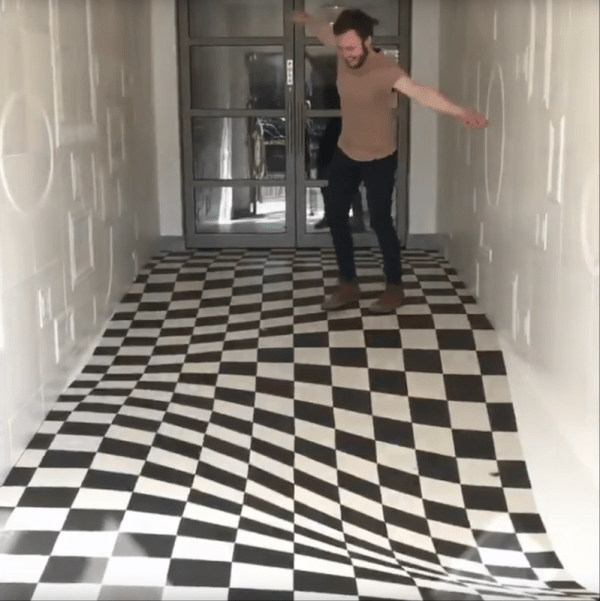 Watch This Artisan Install A Vertigoinducing Tile Floor Boing Boing - Ceramic tile companies near me