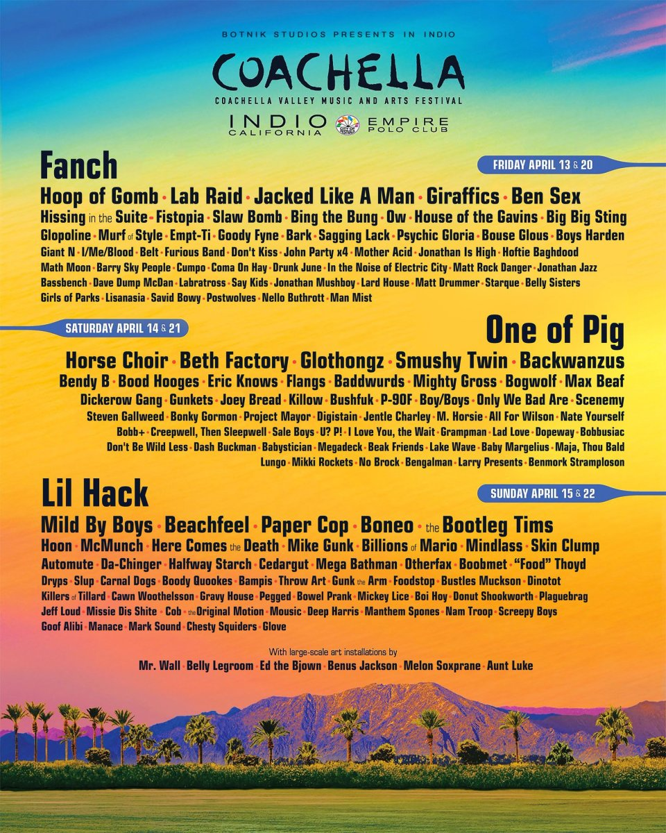 This Bot-generated Coachella Lineup Has The Best Band
