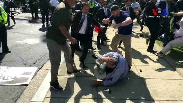 Charges dropped against Turkey's presidential thugs who were filmed brutally beating protesters in Washington