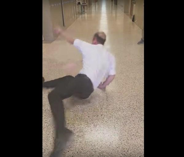 Watch: Geometry teacher breakdances for caramel apple pie