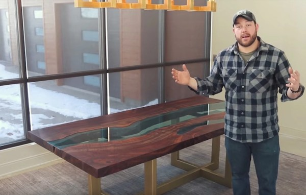 Watch How To Make A Wood Table With A River Of Glass Flowing