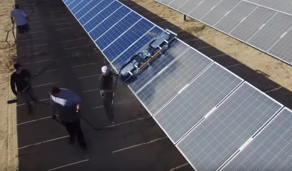 Drones Eye View Of How Solar Farms Clean All Those Panels