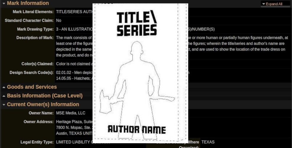 "Trademark Troll Who Claims To Own ""Dragon Slayer"" Now Wants Exclusive Rights To Book Covers Where Someone Is Holding A Weapon by Cory Doctorow for BoingBoing"
