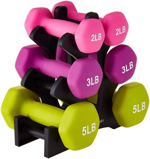 "No more, I bought this simple set of weights from Amazon. I proudly thought  ""Oh, who'll need the 2 lb weights. I am sure I'll start with 3 or maybe  even the ..."