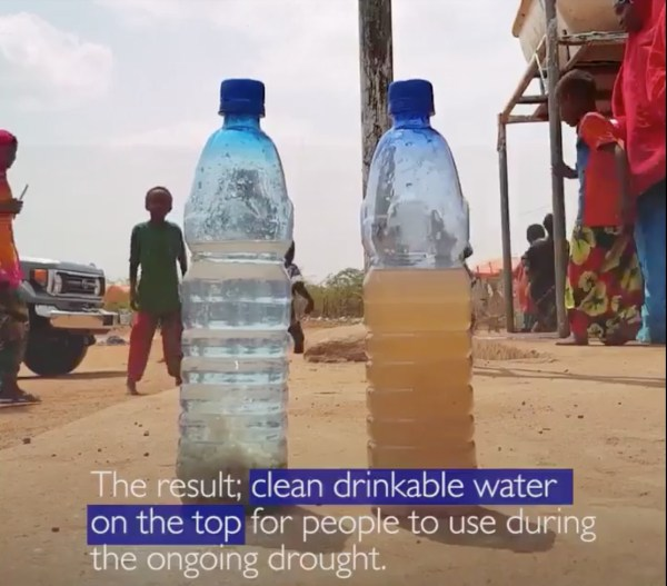 Watch this coagulant make dirty water drinkable