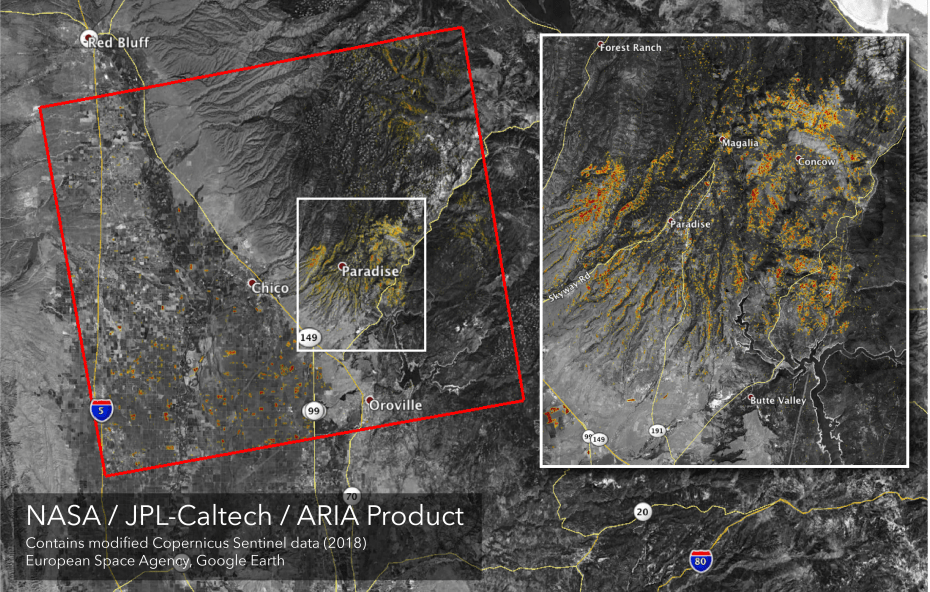 California Fires: From space, NASA JPL maps damage from Woolsey and Camp blazes