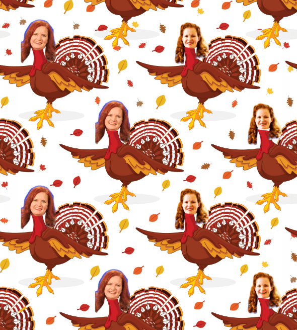 And hereu0027s what I look like on one of their Thanksgiving designs  sc 1 st  Boing Boing & Custom gift wrap that has your (or someone elseu0027s) face on it ...