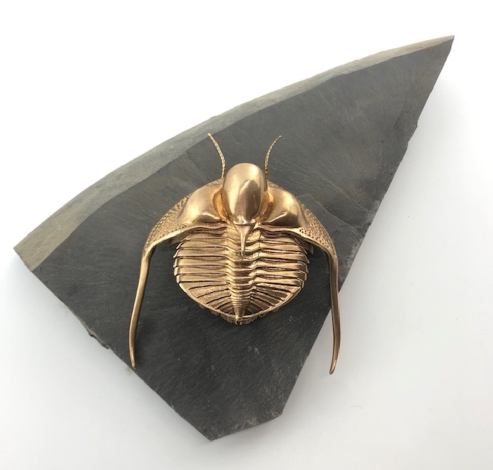 Art show of exquisite bronze trilobites and insects