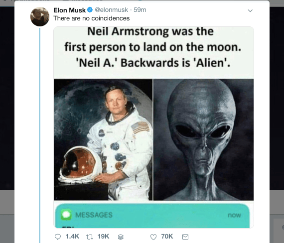 Elon Musk is back on his weird tweets again