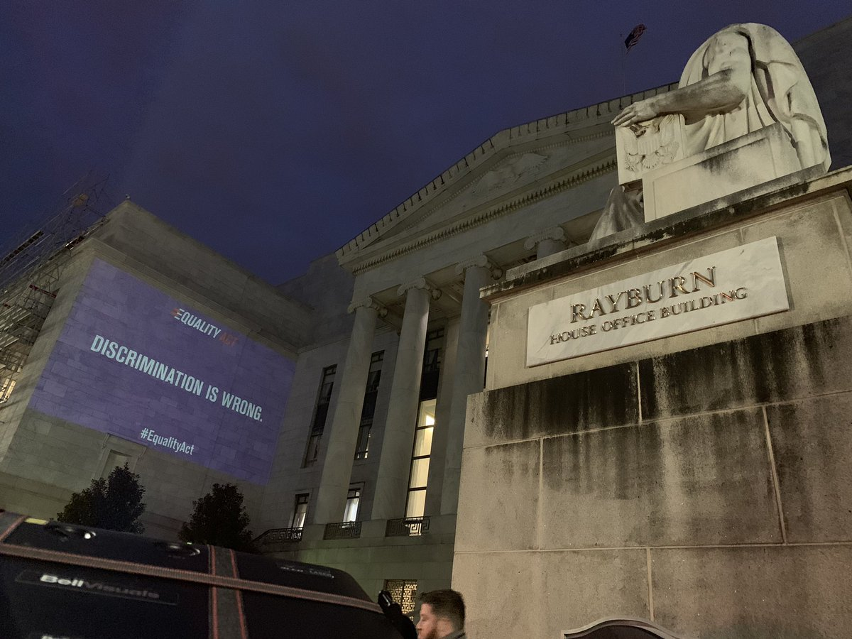 Capitol Police arrest man projecting 'Discrimination is Wrong' on Rayburn House Office Building