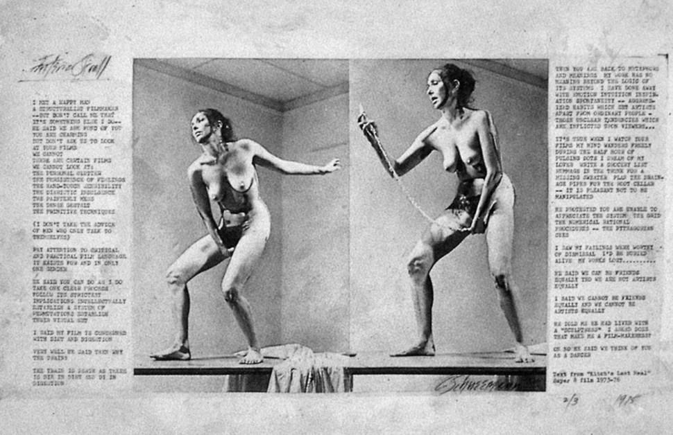 Carolee Schneemann, pioneering performance artist, RIP