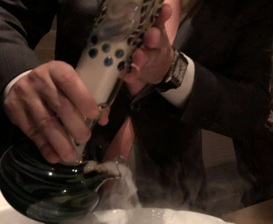 Michelin three-star restaurant French Laundry serves mushroom soup from a bong