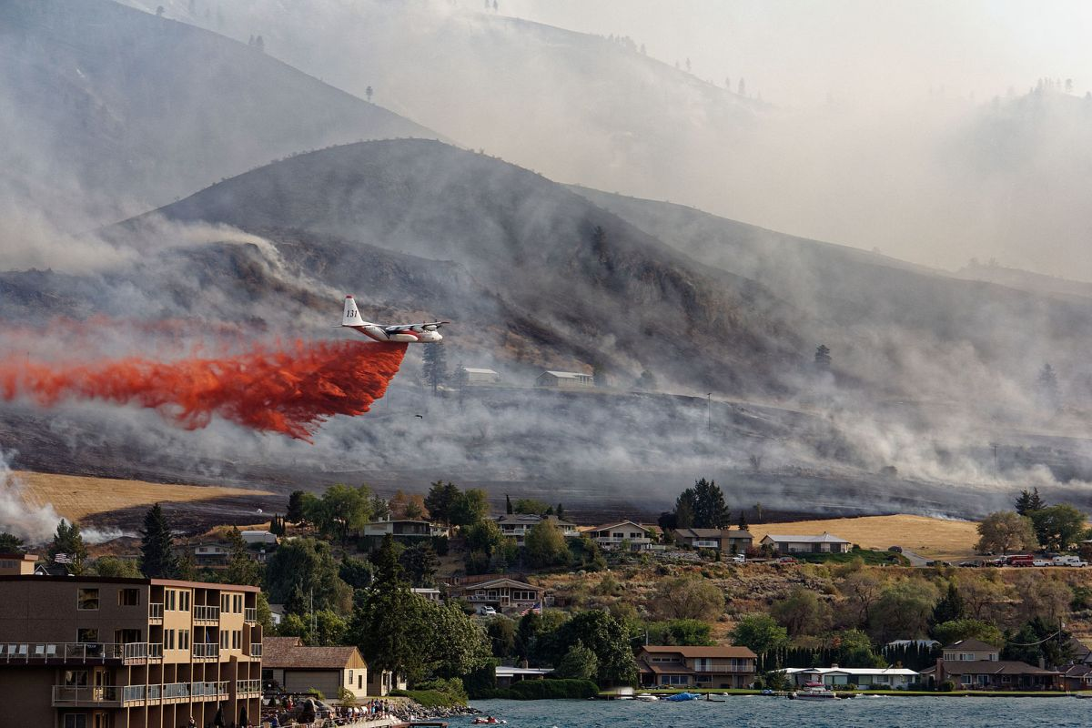 Air tanker drops are often useless for fighting wildfires, but politicians order them because they make good TV