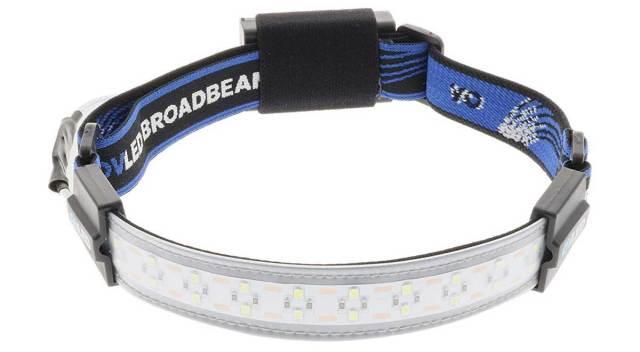Inexpensive broadbeam LED headlamp