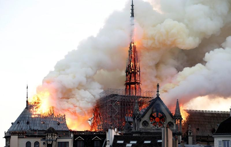 Notre Dame scaffolding workers were smoking on the job before fire, firm says
