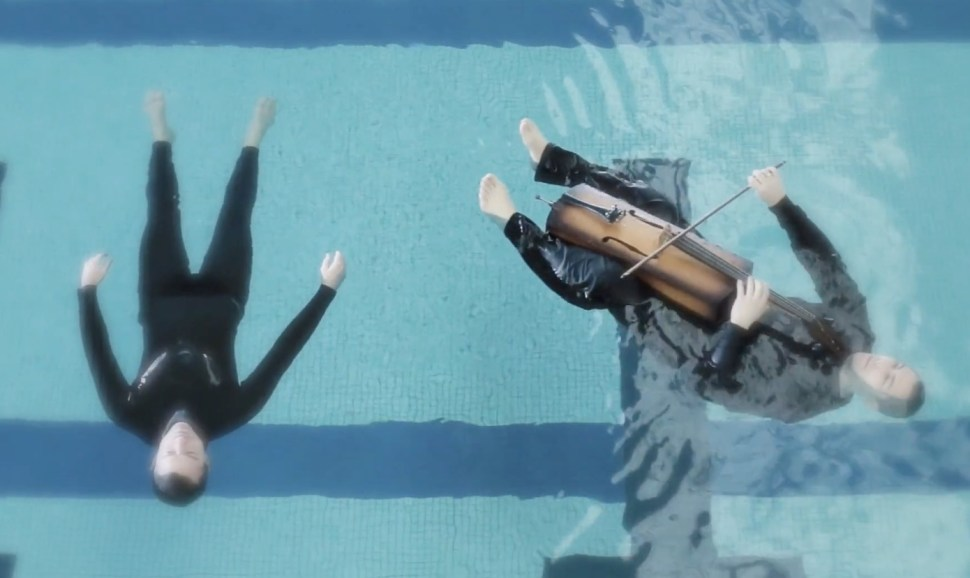 Watch clips from Breathe, a lovely  water opera  in a pool
