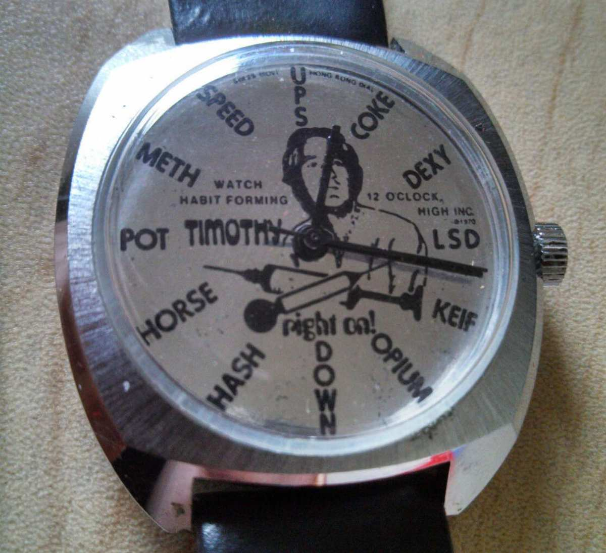 Timothy Leary vintage wristwatch on eBay