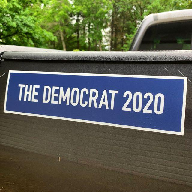 """""""Because we're not morons:"""" This bumper sticker announces you're voting for """"the Democrat"""""""