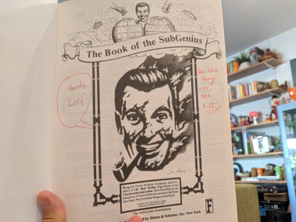 The Church of the Subgenius's Salvation Pack is the best $35