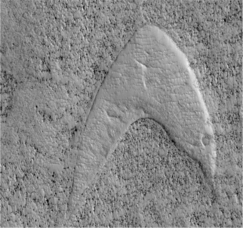 Star Trek Starfleet insignia found on Mars