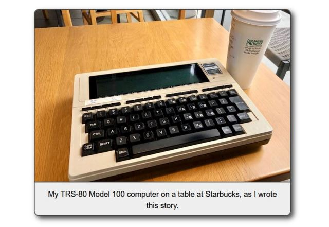 What it was like to actually use the TRS-80 Model 100 as a journalist on the go