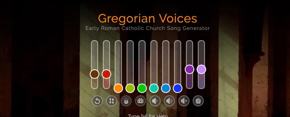 Entrancing interactive Gregorian Chant generator / Boing Boing