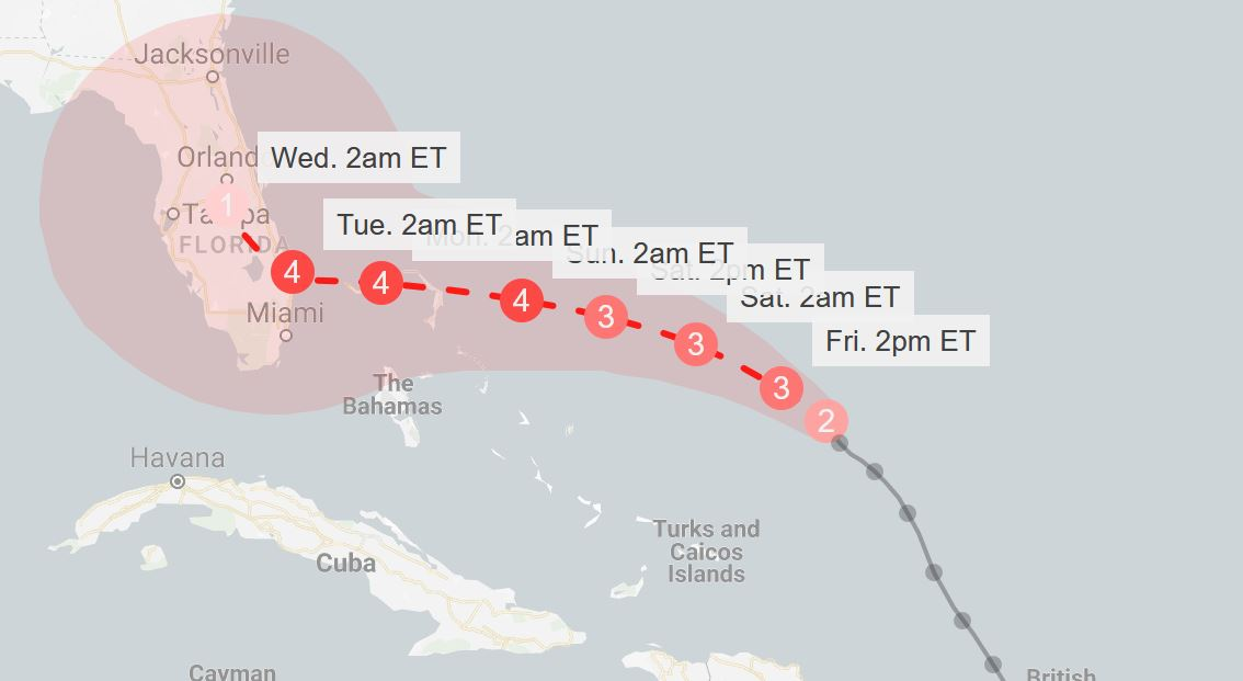 The Picture of Dorian Spray: Category 4 feared for hurricane approaching Florida