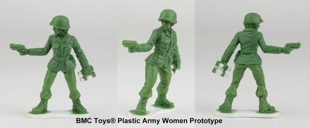 Toymaker to produce line of plastic army women