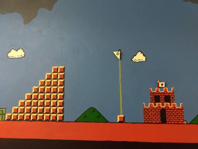 Playable 'Super Mario Bros' 19-foot mural