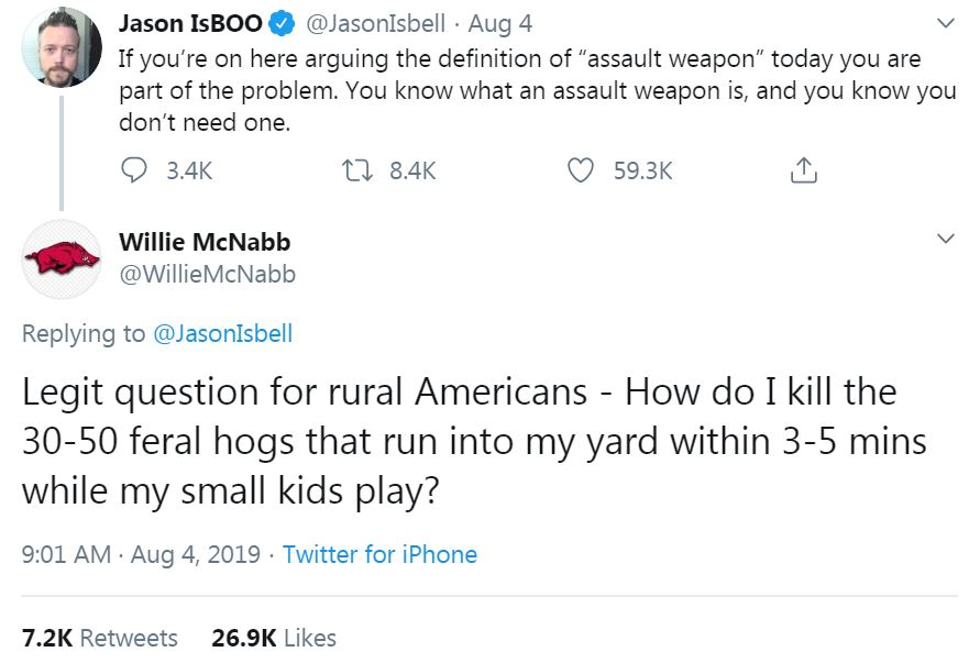 Reply All interviewed the 30-50 feral hogs guy and learned he had a point