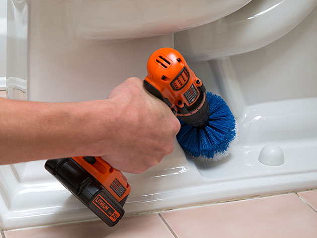 This kit turns your drill into a high-powered cleaning tool