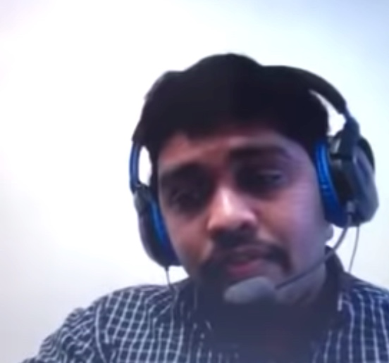 Watch this gentleman get caught trying to fake a Skype job interview