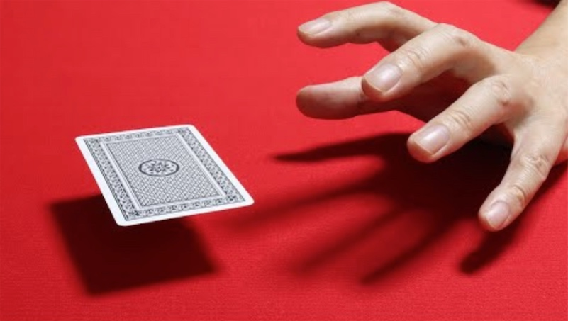 Fantastic stop motion animation of playing card control