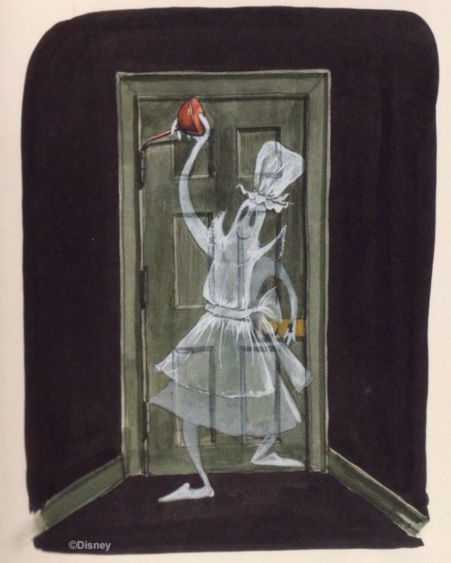A shrewd guess about the Haunted Mansion's mysterious Squeaky Door Ghost