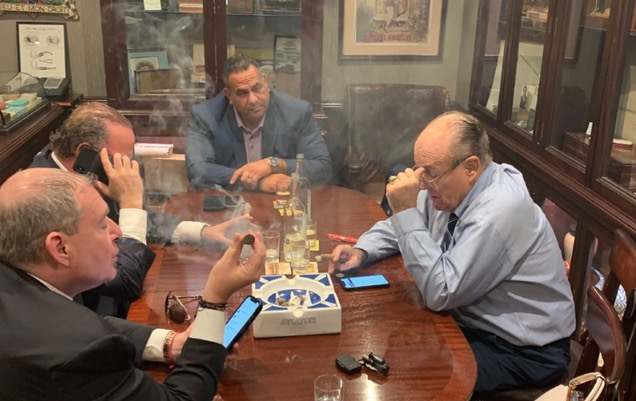 PHOTO: Rudy Giuliani with Lev Parnas, Igor Fruman, third 'unnamed associate'
